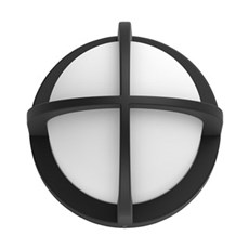 Philips Væglampe - Astilbe wall lantern black 1x42W 230V