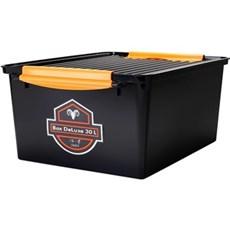 Plast1 Plastkasse - Systembox de luxe 30 ltr. sort