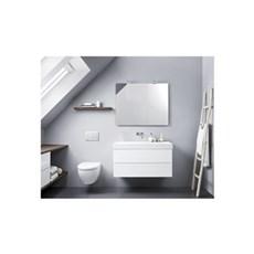 Scanbad Badeværelsessæt - VASKESKAB M/2 SKABE 48*100*44 HVID HØJGLANS