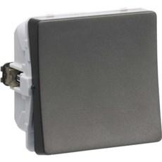 LK FUGA® Afbryder - Afbryder 1-pol  1 modul Koksgrå