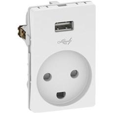 LK FUGA® Stikkontakt - M/JORD & 5V USB-LADER
