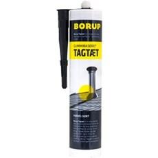 Borup Tagtæt - sort m/gummi og glasfibertilsætning