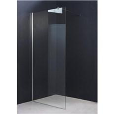 milobad Badafskærmning - Brusevæg 80 cm, klart glas