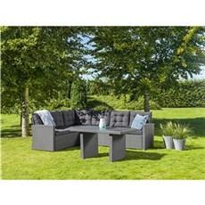 Outrium Havemøbelsæt - Sardinien sofasæt sort