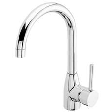 Geyser Håndvaskarmatur - Med U-tud og løft op bundventil KROM