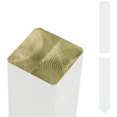 Plus Stolper - Omlimet stolpe 9x9cm Trykimprægneret grundmalet hvid 238cm