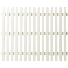 PLUS Træhegn - Retro hvid 150x150 cm Hegn