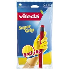 Vileda Gummihandske - supergrip gul medium