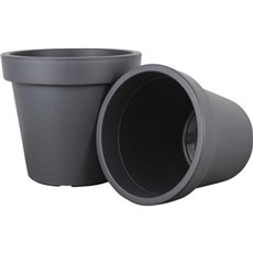 Scan-pot Havekrukke - Bicolor plastpotte i antracit, H. 20,5 cm H20,5 cm