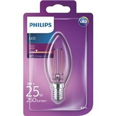 Philips LED - LEDClassic 25W B35 E14 WW CL ND 1BC/4