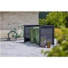 Plus Affaldsskjuler - Renovationsskjul Plank Profil 192x108x104 cm Trykimprægneret
