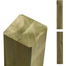 Plus Stolper - Cubic Drager lige afskårne ender 9x9x369 cm Trykimprægneret